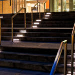 Underlighting Hardscapes Guides Patrons